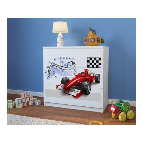 Komoda z nadrukiem, grafiką, obrazkiem Kolekcja Fernando - Formuła F1