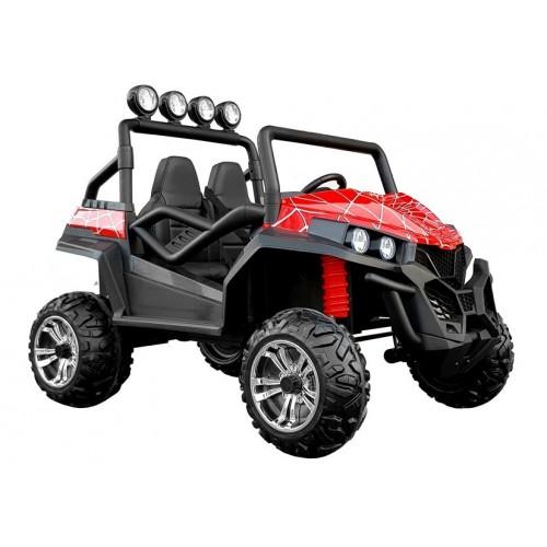 Auto na Akumulator Buggy Spider 2-osobowy Amortyzatory, do 60Kg Czerwony Lakier