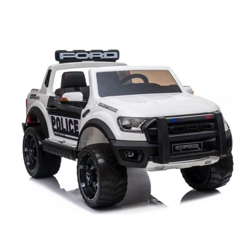 Auto na akumulator Ford Ranger wersja Raptor Policja Biały