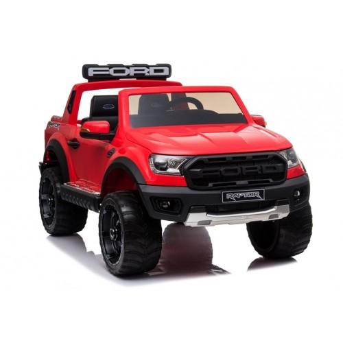 Auto na akumulator Ford Ranger Raptor Czerwony Silnik 12000RPM, koła EVA 2-osobowe