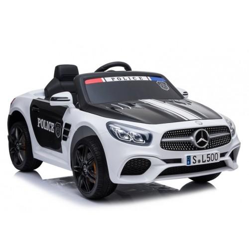 Pojazd na Akumulator Auto Mercedes SL500 Policja Biały