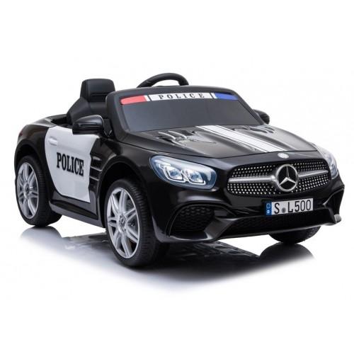 Pojazd na Akumulator Auto Mercedes SL500 Policja Czarny
