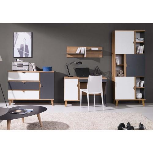 Kolekcja Focca III - komplet mebli młodzieżowych, regał, biurko, komoda, półka