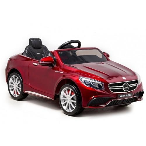 Auto na Akumulator Mercedes S63 Czerwony Lakierowany