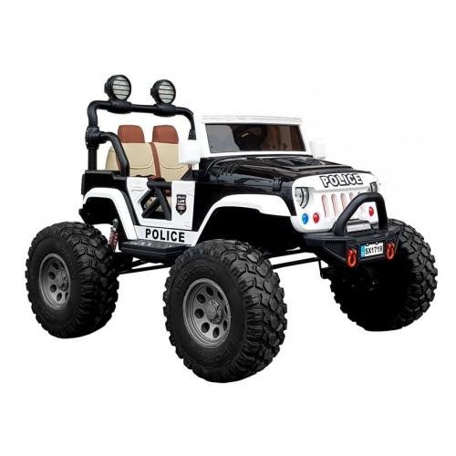 Auto na Akumulator Jeep MEGA Typ 4x4 Policja Czarny