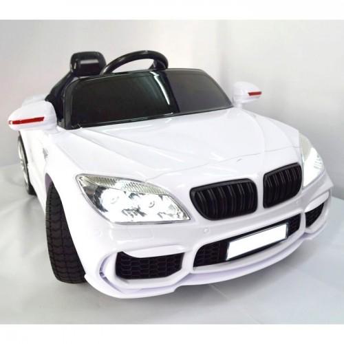 Auto na akumulator BMW seria 4 Coupe 2x45W, skóra, pilot 2,4G Białe