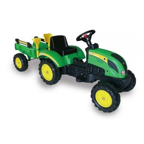 Traktor Branson  Zielony na Pedały 135 cm + Przyczepka