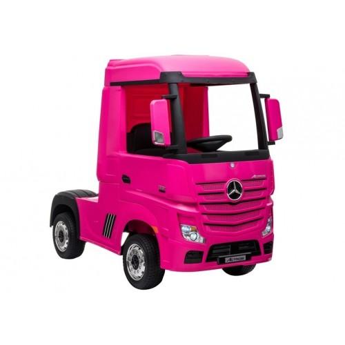 Auto na Akumulator Mercedes Actros Różowy 4x45W + MP4