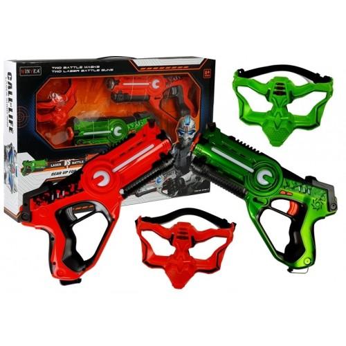 Pistolet Laserowy z maską na Baterie 2 szt