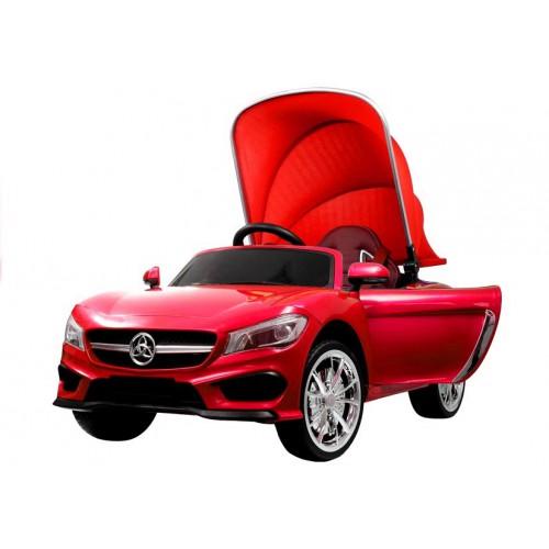 Auto na Akumulator Mercedes Convertible Cabrio z Daszkiem Czerwony