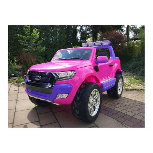 Auto Na Akumulator Ford Ranger Różowy 4x4 Koła EVA Radio