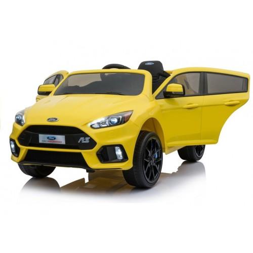 Auto na akumulator Ford Focus RS Żółte Duże miękkie koła EVA, Amortyzatory