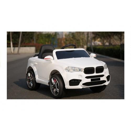 Auto na akumulator BMW X6 Białe koła EVA, 2 silniki, 90Watt + pilot 2,4Ghz