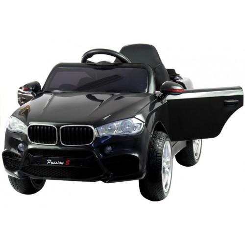 Auto na akumulator BMW X6 Czarne koła EVA, 2 silniki, 90Watt + pilot 2,4Ghz