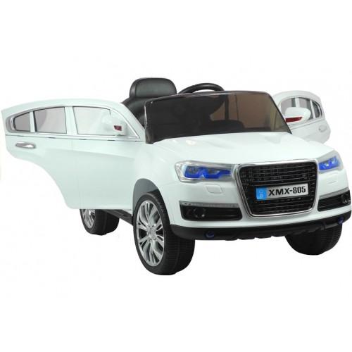 Auto na akumulator Audi Q7 Białe Otwierane drzwi, Światła, Pilot 2.4G