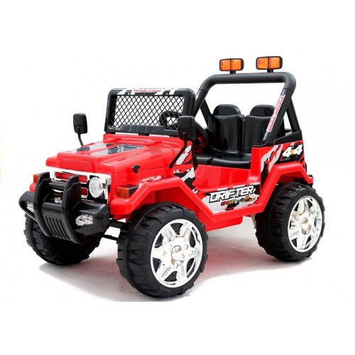 Auto Na Akumulator Jeep Raptor 2-osobowy EVA Czerwony