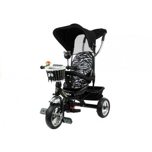 Rower Trójkołowy z daszkiem Pro 300 Czarny Koła EVA Dla Dzieci