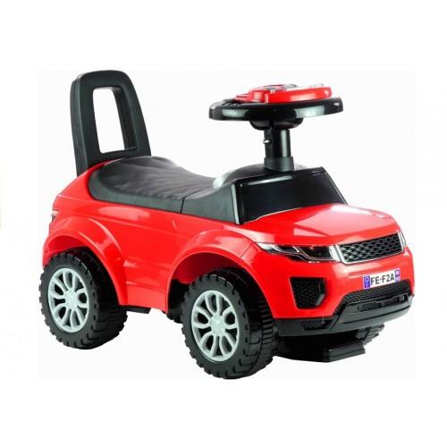 Jeździk dla Malucha Land Rover Gra + Świeci Czerwony
