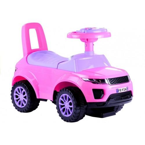 Jeździk dla Malucha Land Rover Gra + Świeci Różowy