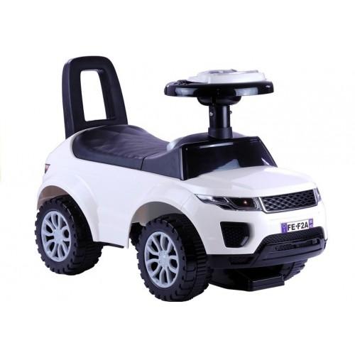 Jeździk dla Malucha Land Rover Dźwięk + Światła Biały