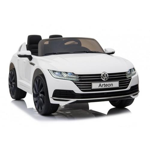 Auto na Akumulator Volkswagen Arteon Biały LED + panel muzyczny