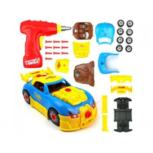 Zabawkowy samochód sportowy Bugatti do rozkręcania i skręcania