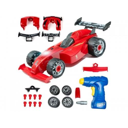 Zabawkowy samochód wyścigowy do rozkręcania i skręcania