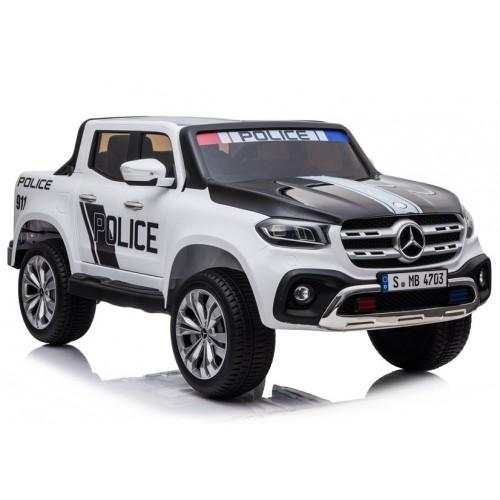 Auto na Akumulator XMX606 Policyjne Białe