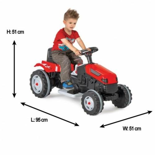 WOOPIE Duży traktor na akumulator czerwony