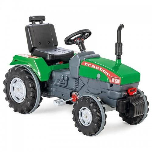 WOOPIE Ogromny Zielony Traktor Na Pedały z Klaksonem