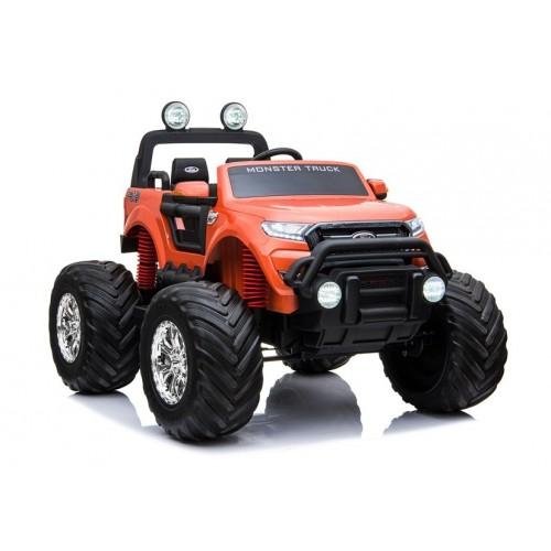 Pojazd na Akumulator Auto Ford Ranger WIELKI Monster Pomarańczowy