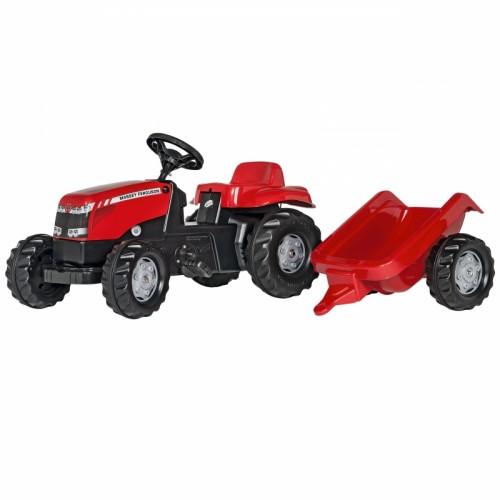 Rolly Toys rollyKid Traktor na pedały Massey Ferguson z przyczepką