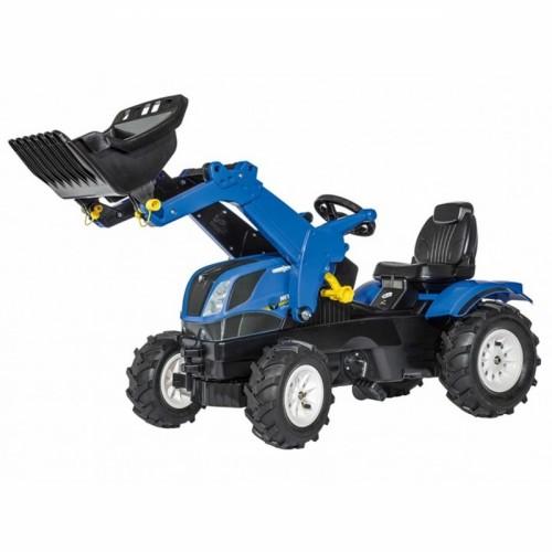 Rolly Toys rollyFarmtrac New Holland traktor na pedały z łyżką i pompowanymi kołami