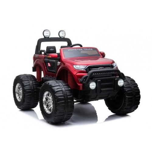 Pojazd na Akumulator Auto Ford Ranger Monster Czerwony Lakierowany LCD