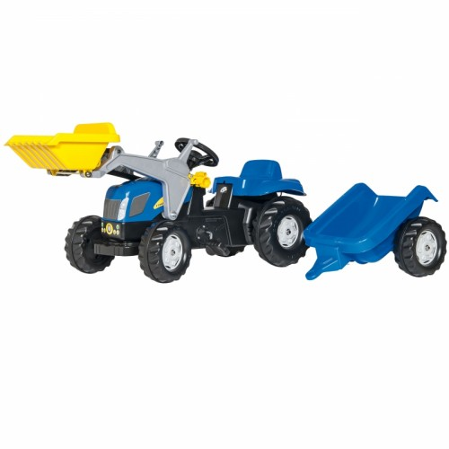 Rolly Toys rollyKid Traktor New Holland z łyżką i przyczepą