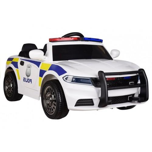 Auto na Akumulator Samochód Policyjny Dodge Charger Biały