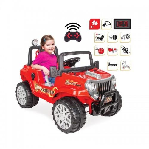 Duży Samochód Na Akumulator 12V Ranger Car Zdalnie Sterowany Czerwony WOOPIE
