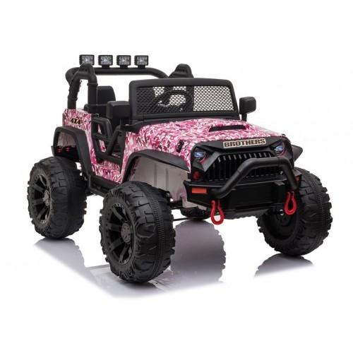 Auto na akumulator Jeep JC666 Różowy Lakierowany