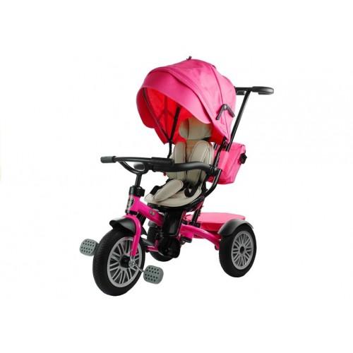 Rower Trójkołowy z daszkiem Pro 800 Różowy