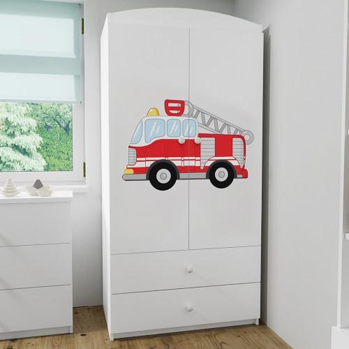 Szafa z nadrukiem, grafiką, obrazkiem kolekcja Fernando - Super Staż Pożarna