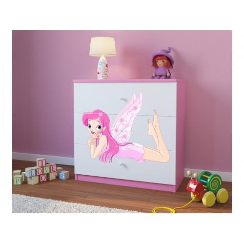 Komoda z nadrukiem, grafiką, obrazkiem Kolekcja Fernando - Różowa Czarodziejka