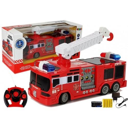 Wóz Strażacki Zdalnie Sterowany Straż Pożarna R/C 28cm
