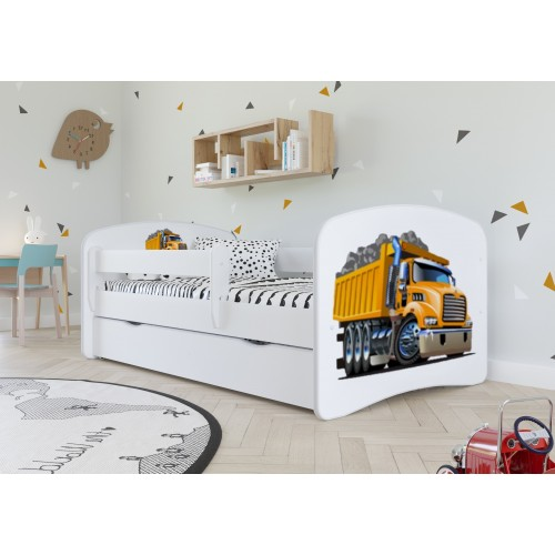 Łóżko Fernando Łóżeczko z nadrukiem, grafiką, obrazkiem - Amerykańska Ciężarówka