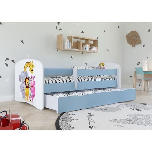 Łóżko Fernando Łóżeczko z nadrukiem, grafiką, obrazkiem - Madagaskar