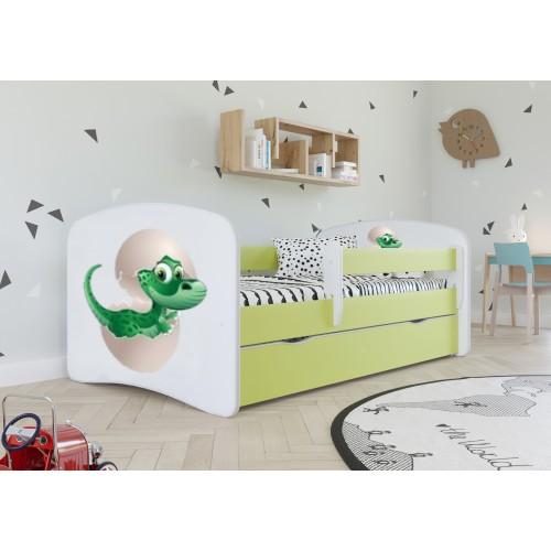 Łóżko Fernando Łóżeczko z nadrukiem, grafiką, obrazkiem - Mały Dino