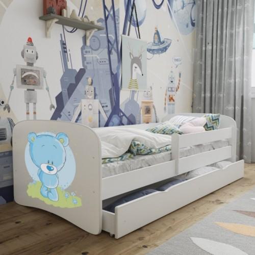 Łóżko Fernando Łóżeczko z nadrukiem, grafiką, obrazkiem - Miś Maciek