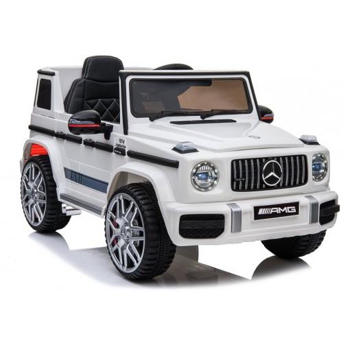 Auto na Akumulator Mercedes G63 AMG Biały LED Terenowy
