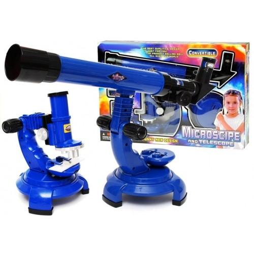 Mikroskop Zestaw 2w1 Teleskop Zestaw Odkrywcy