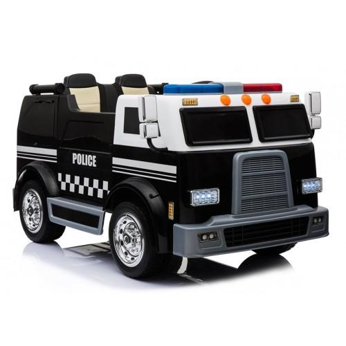 Samochód Policyjny Na Akumulator Czarny Radiowóz