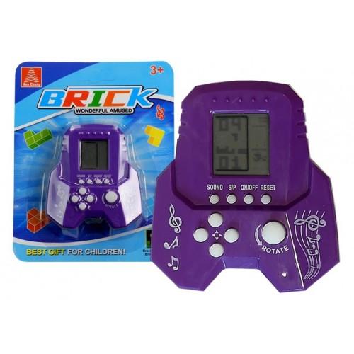 Gra Elektroniczna Tetris Bricks Rakieta Fioletowa